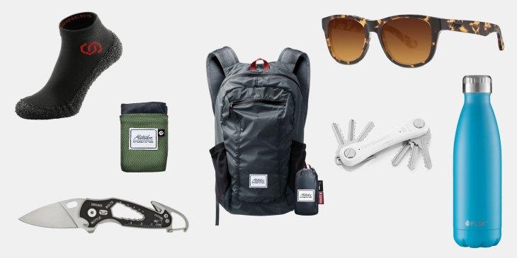Matador Up, Skinners, Smart Knife, Tens Sonnenbrille, KeySmart Pro Tile, FLSK Thermoflasche, Wandern, Ausrüstung, Outdoor, Natur,