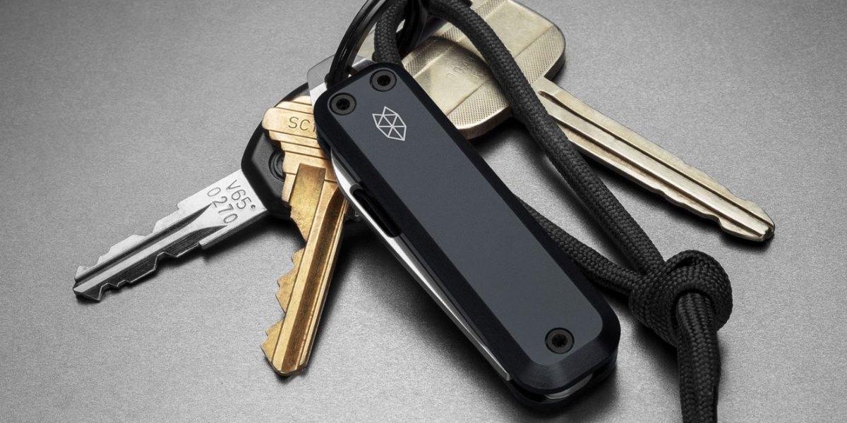 Mini Edelstahl Tarnung Tragbar Messer Schlüsselbund Anhänger Cleaver Werkzeug