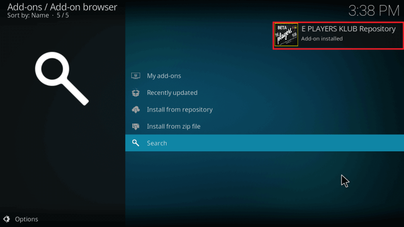Addon Enabled Notification