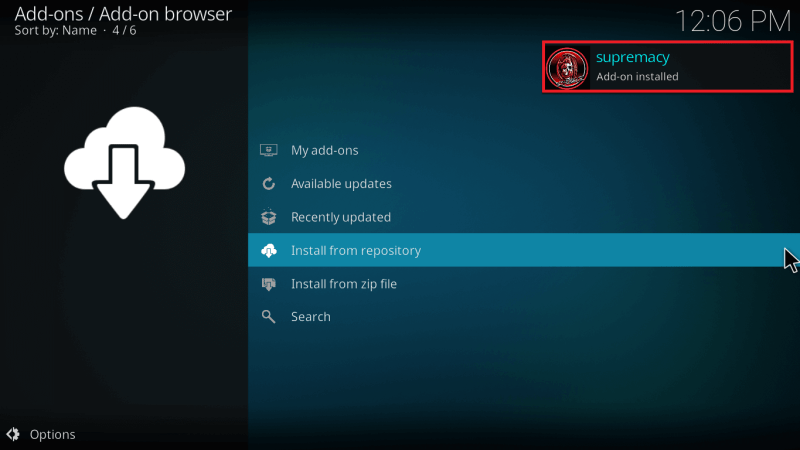 Supremacy Addon Installed