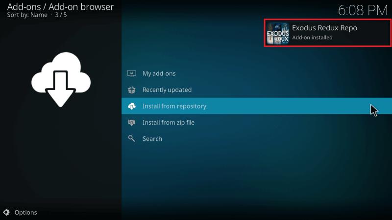 Wait for Exodus Redux Repo Installed