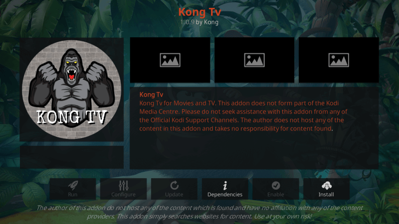 How to Install Kong TV Kodi Addon