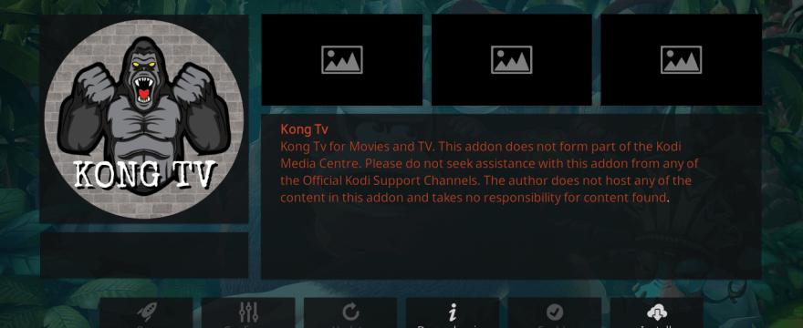 How to Install Kong TV Kodi Addon