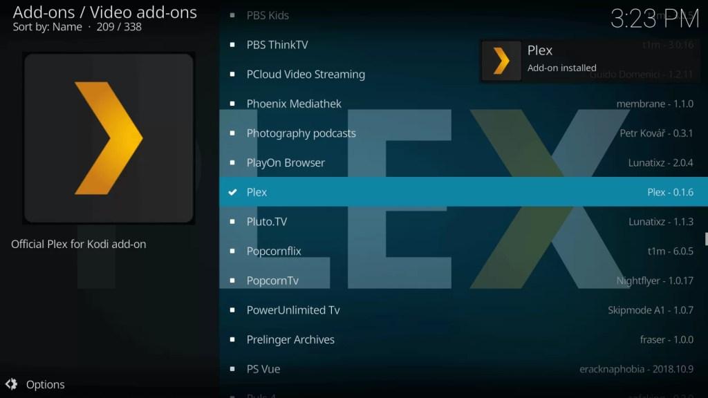 Plex on Kodi