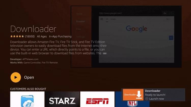 Launch Downloader app