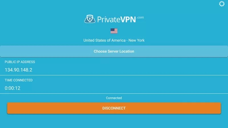 Connect to PrivateVPN server