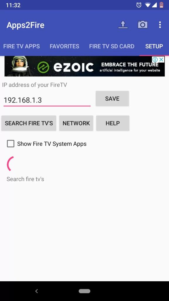 Sideload Apps to Firestick using Apps2Fire