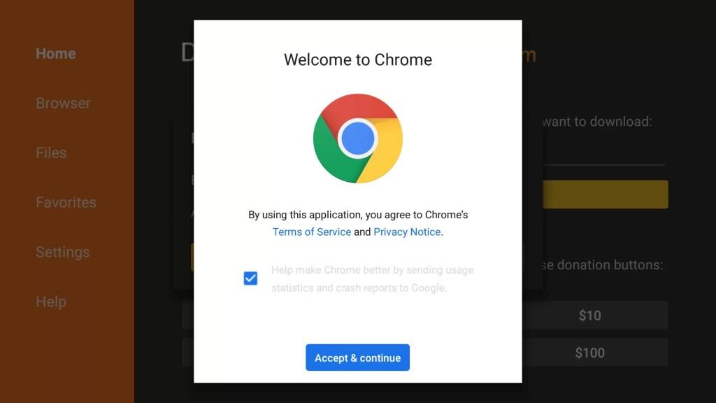 Install Chrome on Firestick