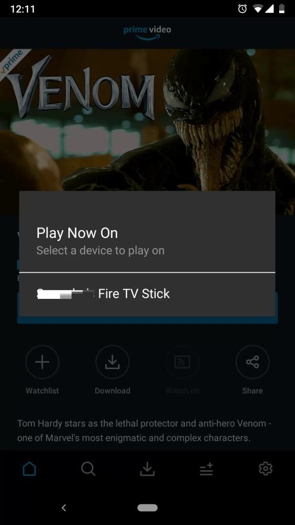 Chromecast Amazon Prime Videos