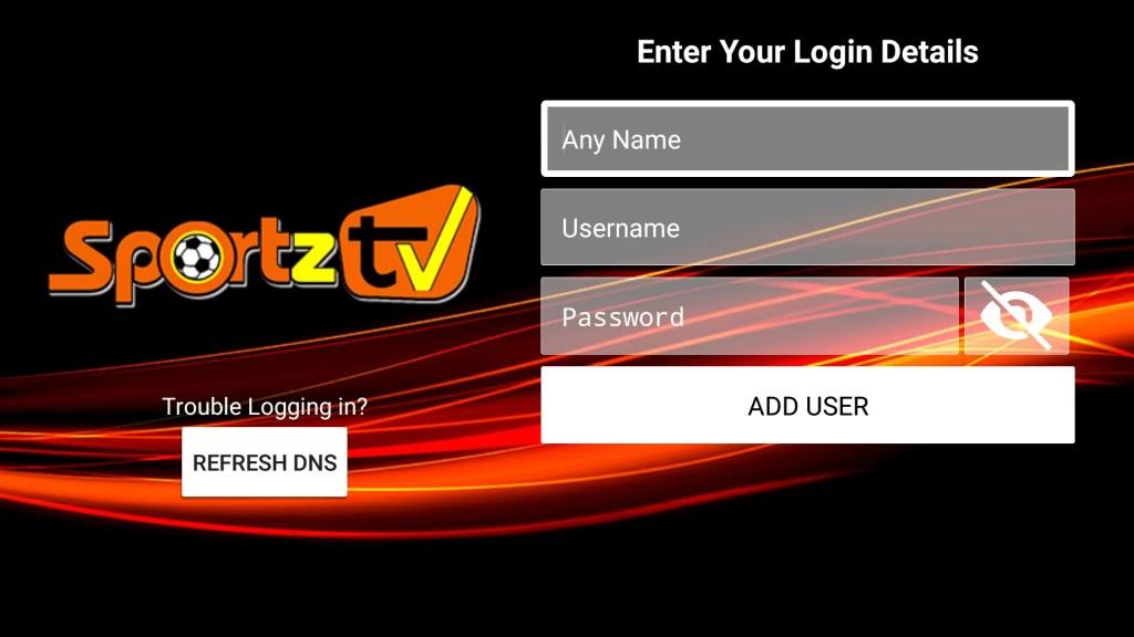 Sportz TV IPTV on Firestick