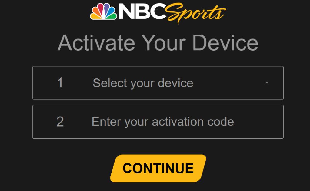 Activate NBC Sports