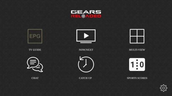 Gears TV Reloaded IPTV Home Screen