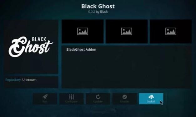 How to Install Black Ghost Kodi Addon [Krypton & Leia]