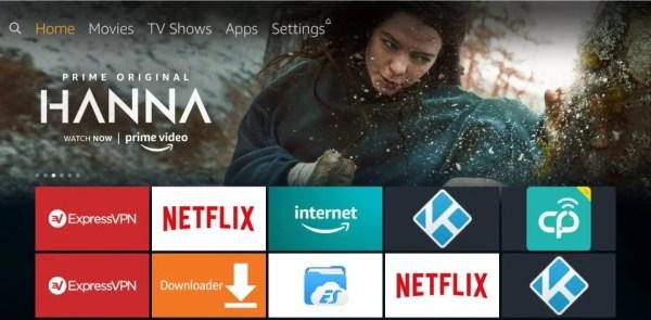 Fire TV Home Screen
