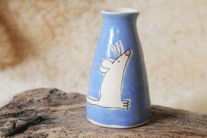 Blue Mouse Vase