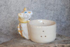 Firestone Studios Ginger Cat Tealight Holder
