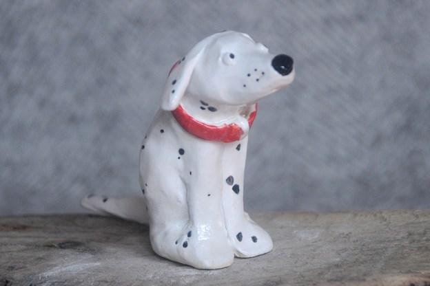 Sitting Dalmatian Dog