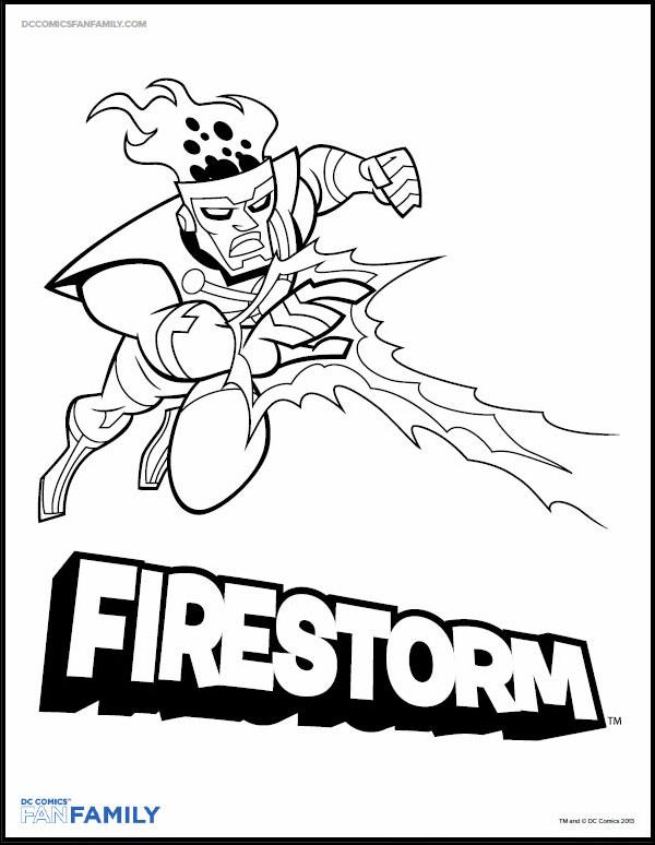 firestorm coloring page on dccomics com firestorm fan