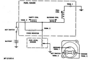 Fig 17 Fuel Gauge Circuit Diagram