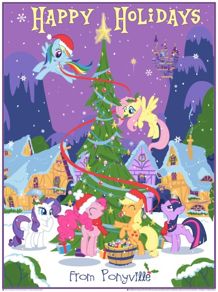 DHM-MLP-Our Pony Christmas Tree_inside_the_rock_poster_frame