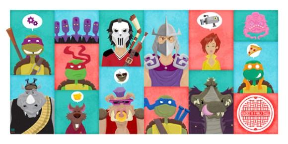 Heroes In A Half Shell Ian Glaubinger Ltd Art Gallery MINTcondition