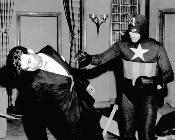 CAPTAIN AMERICA, Dick Purcell, (right), 1944