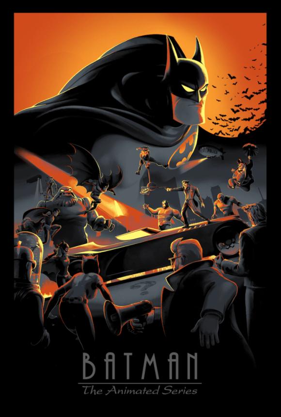 Batman Cartoon 90s Nostalgia Print