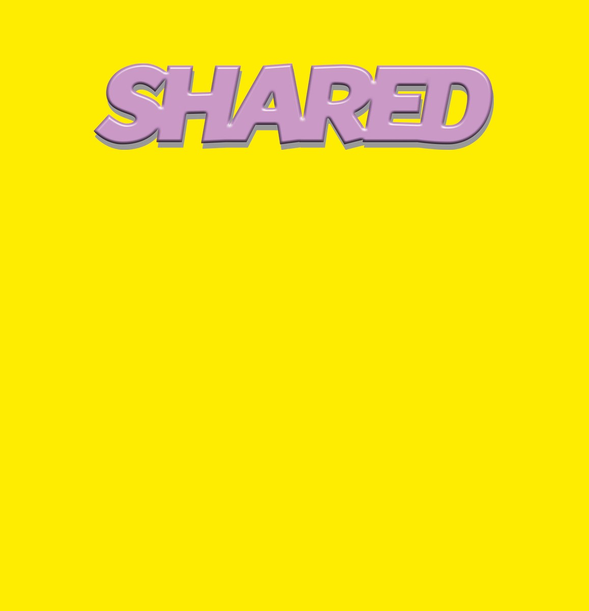 Front cover for Shared artists book