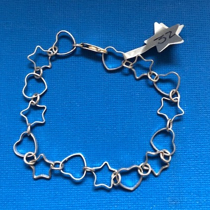 Starfish hearts and stars bracelet