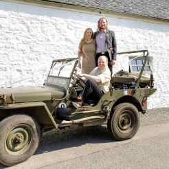 Guests at Firhall Bed and Breakfast on a jeep with Skye Jeep Tours