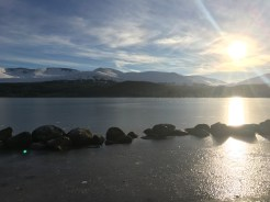 A frozen Loch Morlich November 2017