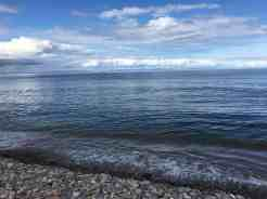 When the tide is in at Findhorn beach