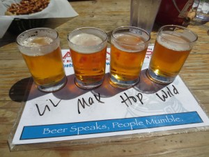 Beer samplers are available for a modest price.