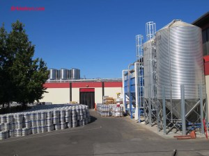 Brewery operations continue unobserved on the other side of the building.