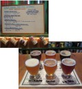 Six beers were available to taste with anticipation that a seventh would come on-line while we were there.