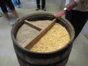 Corn, rye, and barley are the grains used to make bourbon.