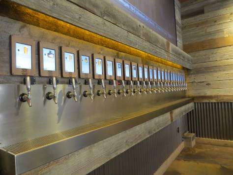 "Each beer tap seems to yell ""Pick Me!""."