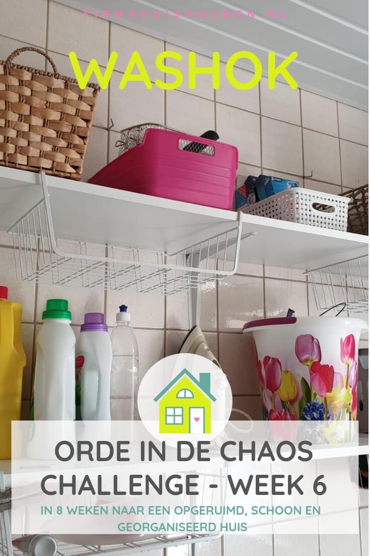 Orde in de Chaos Challenge | week 6 - Het washok
