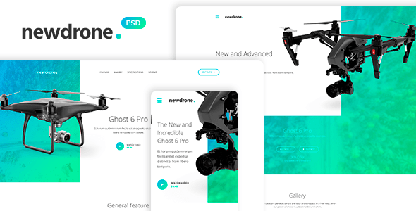 drone landing page