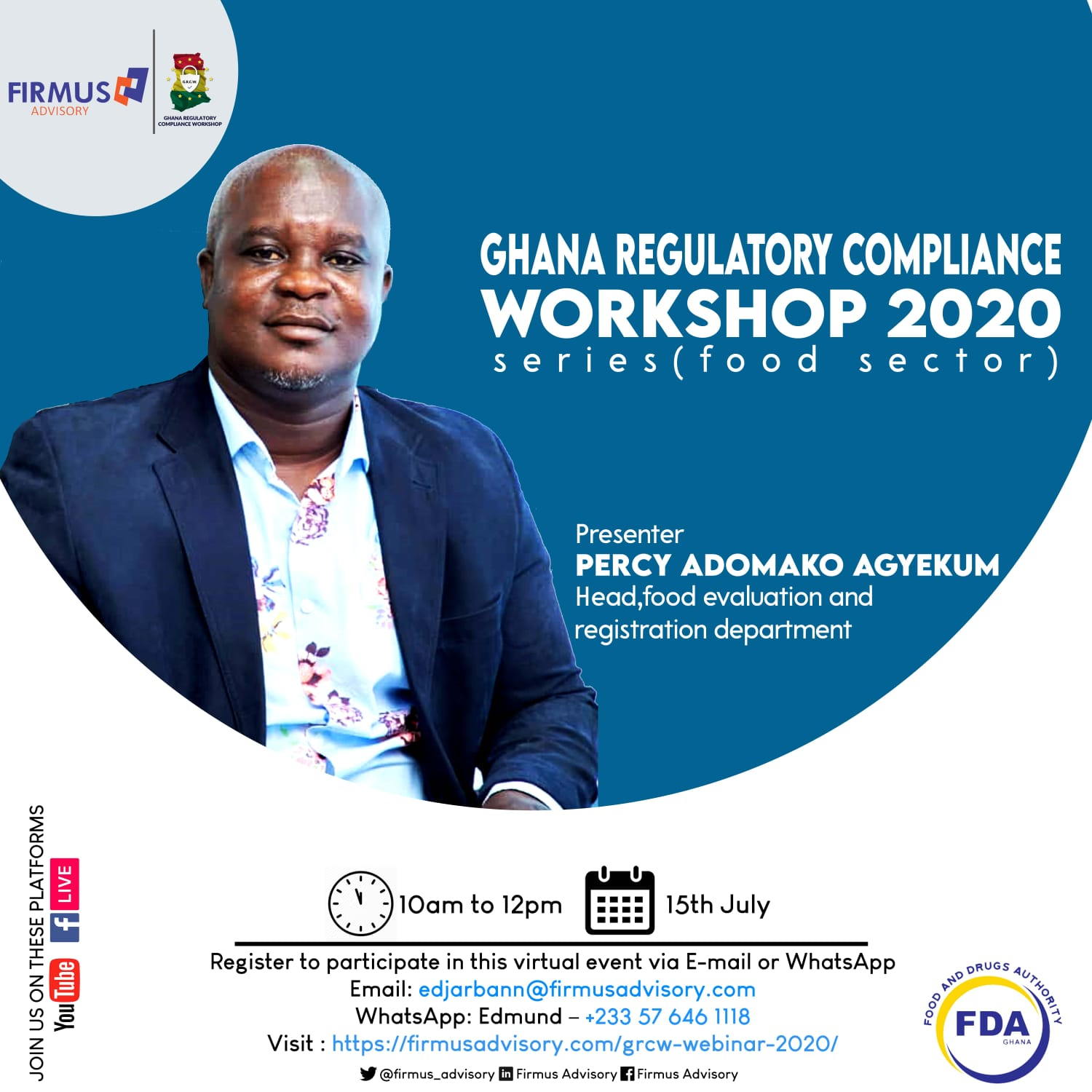 Ghana regulatory compliance workshop 2020