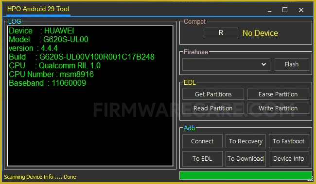 HPO Android 29 Tool