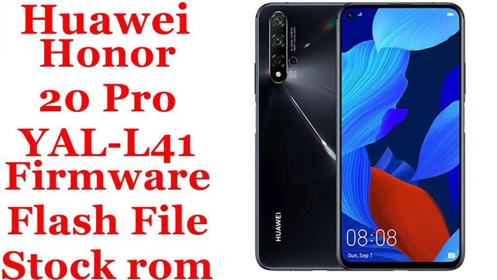 Huawei Honor 20 Pro YAL L41