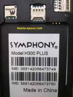 Symphony H300 Plus Firmware Flash File Stock Rom Free Download