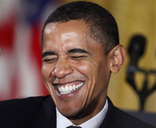ObamaLauging