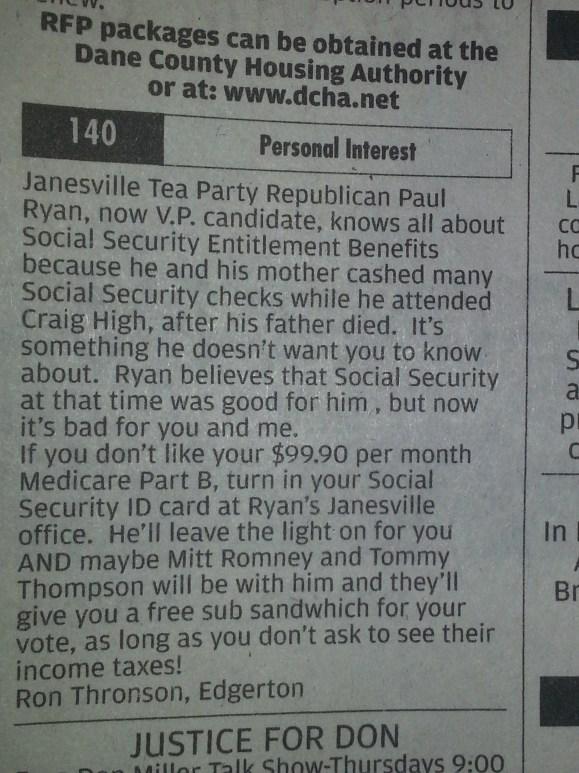 Ryan the hypocrite
