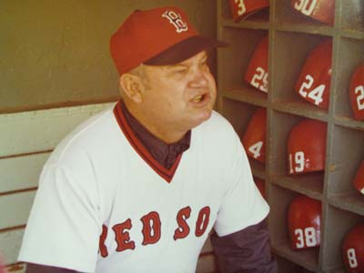 Don Zimmer as Boston Red Sox manager