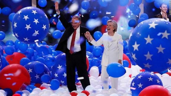Clinton-Kaine DNC, 2016.
