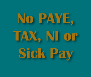 No PAYE TAX NI or Sick Pay