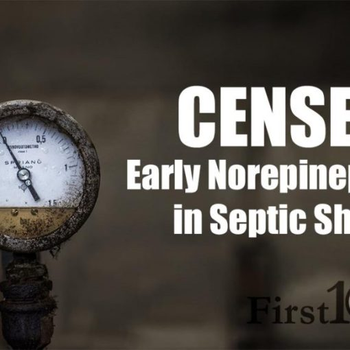 CENSER trial - early norepinephrine in septic shock