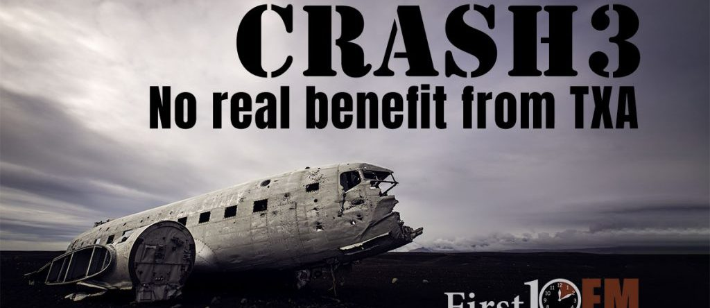 Crash 3 shows no benefit from TXA